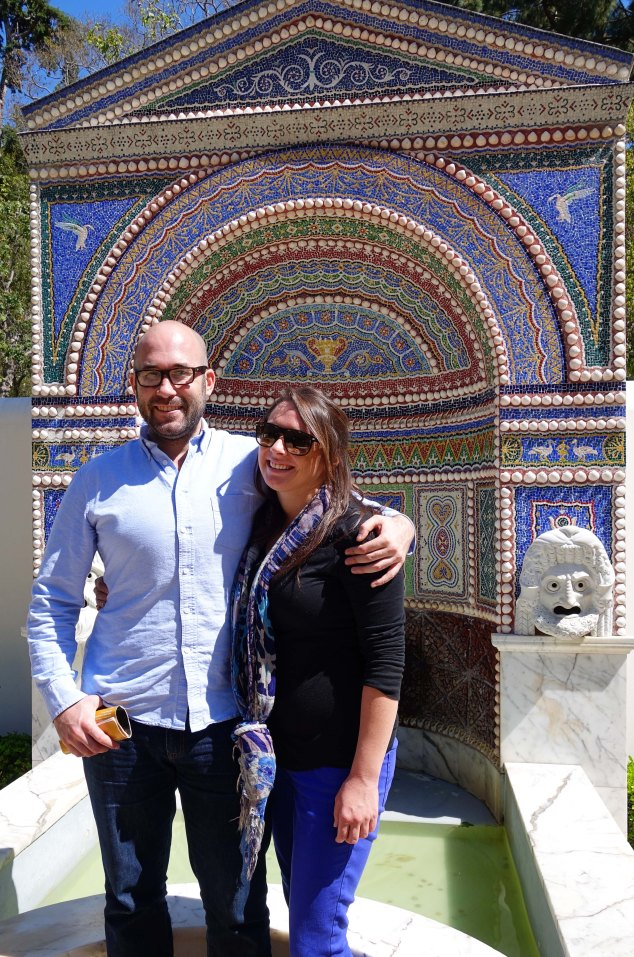 Max and Amber at the Getty Villa. Such a beautiful couple!