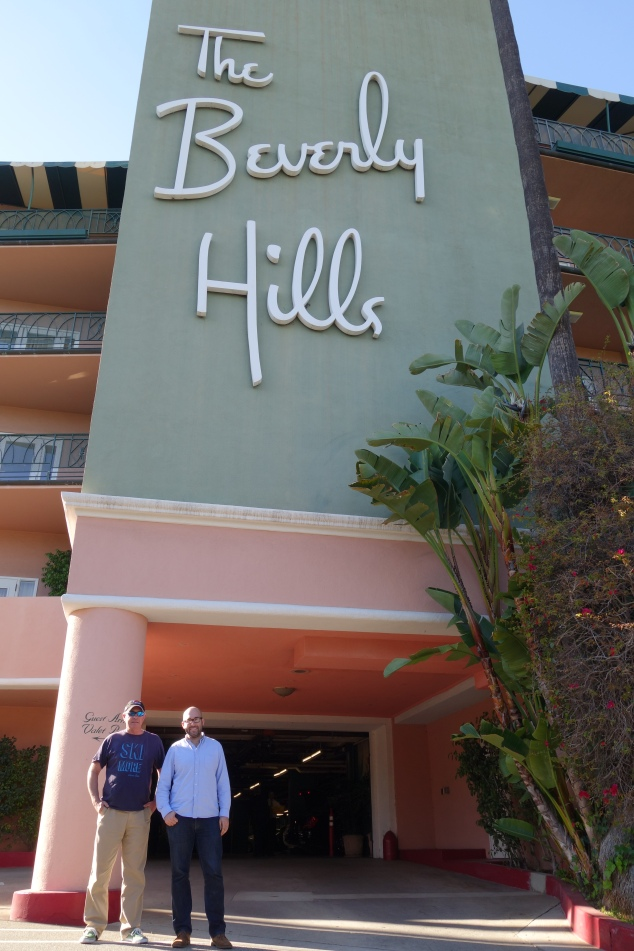 Tom and Max in front the the famed Beverly Hills Hotel. You could just imagine all of the history this place has!