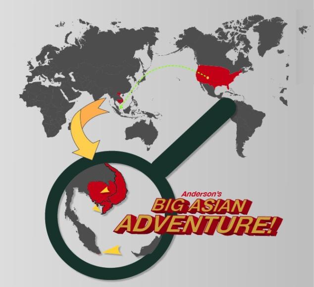 Denver - LA - Tokyo - Singapore - Ho Chi Minh City - Siem Reap - Hoc Chi Minh City - Phu Quoc - Ho Chi Minh City - Singapore - Tokyo - LA - Denver!
